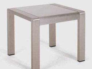 outdoor patio table 1only Silver Finish  Matte Gray