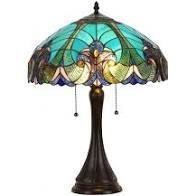 Chloe Tiffany Style Victorian 2 light Table lamp  Retail 152 99 bronze