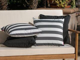 coronado outdoor pillows set of 4 Black White