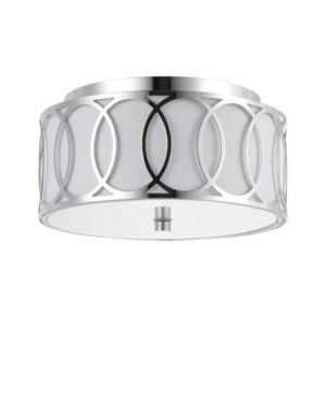 Silver Aria 2 light 12 25 Metal lED Flush Mount  Chrome Silver 2 Bulb Retail  91 87