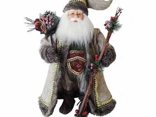 Multi Color Kurt Adler 18 inch Kringle Klaus Forest Santa 18 Retail  79 98