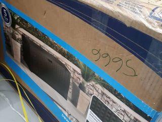 Deck Box Resin Wicker 99 Gallon   Brown   Suncast