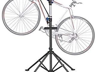 DoCred Bike Repair Stand  Foldable Maintenance Rack Height Adjustble Extensible Bike Repair Rack Mechanic Bicycle Bikes Maintenance Rack Workstand for Road   Mountain Bikes