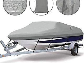 Ogrmar Heavy Duty Trailerable Waterproof Boat Cover  17 19ft  Grey