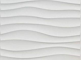 Art3d Plastic 3D Wall Panel PVC Wave Wall Design  White  19 7  x 19 7   12 Pack