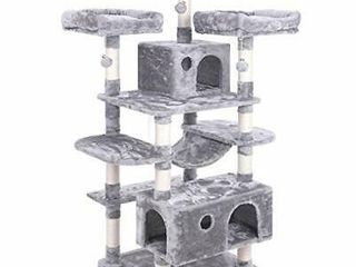 BEWISHOME large Cat Tree Condo with Sisal Scratching Posts Perches Houses Hammock  Cat Tower Furniture Kitty Activity Center Kitten Play House MMJ03