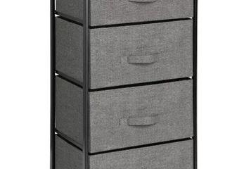 Mdesign Dresser Storage Tower   Sturdy Steel Frame Wood Top   Handles Easy Pull