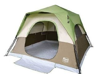 Timber Ridge Camping Tent 6 Person Instant Tent 10x10 Feet Portable Cabin Tent with Rainfly for Family Camping  Traveling  Hiking  Picnicing  Easy Set Up