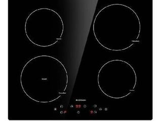 Induction Cooktop 4 Burner ECOTOUCH Electric Cooktop Built in Induction Cooker 24 inch  Induction Stove Top Smoothtop Vitro Ceramic Surface with Booster Burner IB640