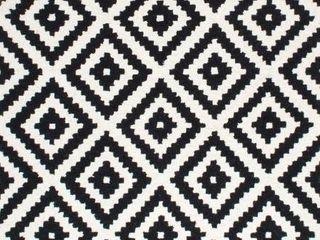 nulOOM Handmade Wool Abstract Pixel Trellis Area Rug   6  Square   Black