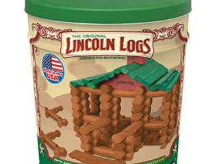 lINCOlN lOGS Aaa100th Anniversary Tin 111 Pieces Real Wood logs Ages 3    Best Retro Building Gift Set for Boys Girls   Creative Construction Engineering Aaa Top Blocks Game Kit   Preschool Education Toy   Not Inspected