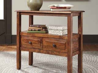 Signature Design by Ashley   Abbonto Accent Table   Casual   Warm Brown