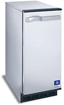 Manitowoc SM 50A 14 3 4  Air Cooled Undercounter Octagonal Cube Ice Machine with 25 lb  Bin   53 lb SOME DAMAGE
