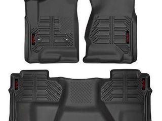 Gator Accessories 79608 Black Front and 2nd Seat Floor liners Fits 14 18 Silverado Sierra 1500 Double Cab  15 19 2500 3500 Double Cab  2019 Silverado 1500 lD 2019 Sierra limited Double Cab  Combo Set