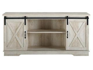 Farmhouse White Oak Barn Door TV Stand for TVs up to 64  by Manor Park