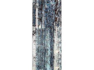 nulOOM Haydee Abstract Runner Rug  2  5  x 8  Blue