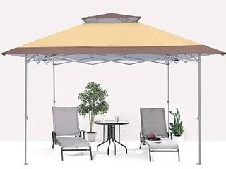 ABCCANOPY 13x13 Canopy Tent Instant Shelter Pop Up Canopy 169 sq ft Outdoor Sun Shade  Khaki