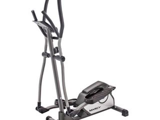 Marcy Magnetic Elliptical Trainer Cardio Workout Machine with Transport Wheels NS 40501E