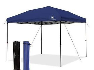 Pop up Canopy Tent 10x10 FT  UV 50  and Waterproof Shelter  3 Adjustable Height with Wheeled Carrying Bag