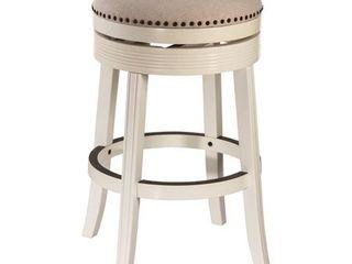 30  Tillman Backless Swivel Barstool White Beige   Hillsdale Furniture