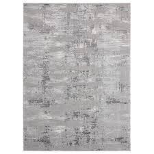 Porch   Den Reusser Hi low Abstract Striation Area Rug  Retail 481 99 grey