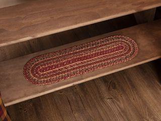 cider mills burgundy red carpet steps 12 pc