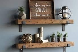 barn wood shelf a set of 2 stained