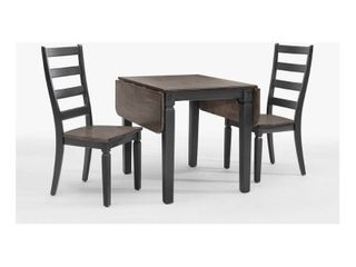 Glenwood Rubbed White and Charcoal Drop leaf Table only Retail 262 49