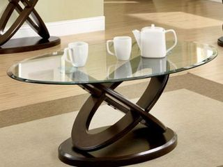 Furniture of America Faza Modern Walnut Solid Wood Coffee Table  Retail 405 99