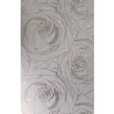 Wallpaper bronze Gold Metallic Textured large flowers floral Roses 3 pkg