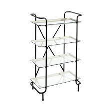 Barner Antiqued Iron 4 tier Etagere Bookcase  Retail 169 49
