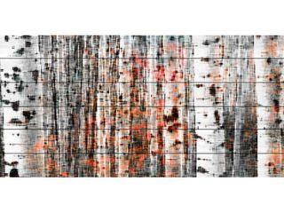 Handmade Parvez Taj   Tree Ski Print on White Wood  Retail 404 69