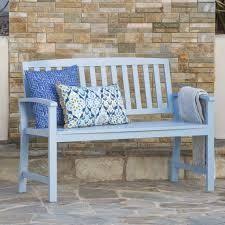 lola outdoor acadia wod bench white