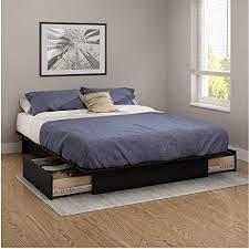 Contemporary Storage Platform Bed bottom only  Retail 317 99 black