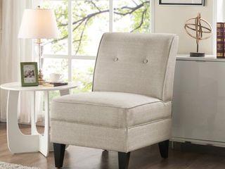 Handy living Courtney Oatmeal linen Armless Chair  Retail 192 49