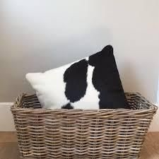 Pergamino Black and White Cowhide Pillows set of 2
