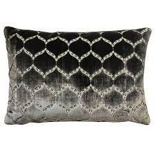 Rodeo Home Eliza luxury Geomtric Cut Velvet lumbar Pillow