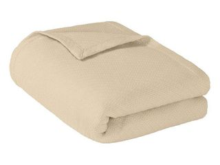 Madison Park liquid Solid Colored Woven Cotton Blanket ivory