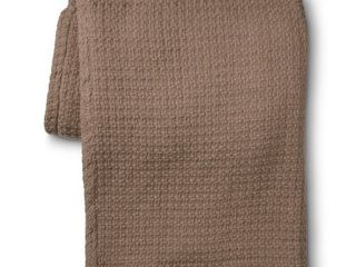 Elite Home Grand Hotel Cotton Solid Blanket   Taupe  Twin