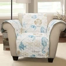 Harbor life Furniture Protector Blue Taupe Single Arm Chair set of 2