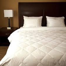 Diamond Quilted White Down Blanket  Retail 166 99