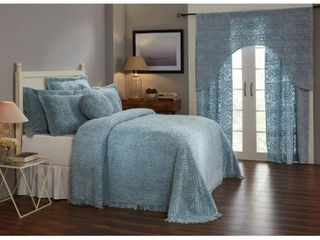Better Trends Double Wedding Ring Collection   Design blanket 100  Cotton Tufted Unique luxurious Soft Plush Chenille Machine Washable  Retail 94 98