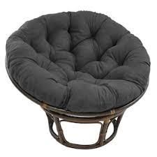 Blazing Needles 65 inch Microsuede Double Papasan Cushion only Retail 122 49 black