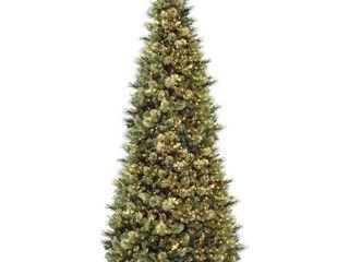 12 ft  Carolina Pine Slim Tree with Clear lights  Retail 488 49