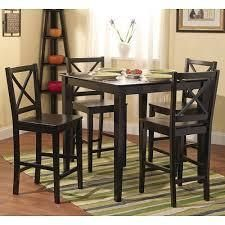 simple living cross back counter height black table