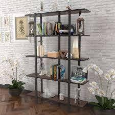 DiscountWorld Malphite Bookcase  Retail 154 99 walnut