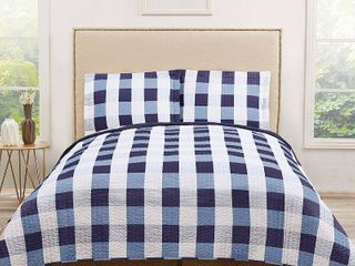 Everyday Buffalo Plaid Quilt Set by Truly Soft king