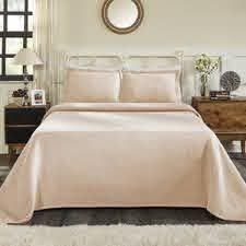 Impressions Brynner Cotton Basket Bedspread 3 Piece Bedding Set  Full
