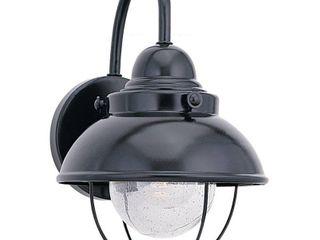 Sea Gull lighting Sebring Black 100 Watt Outdoor Wall lantern  Retail 105 99
