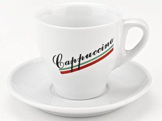 Italian Cappuccino 8 piece Porcelain Mug and Saucer Set